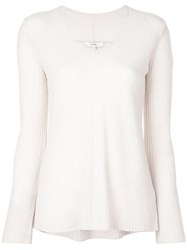 Vince Slouch Knitted Top Neutrals