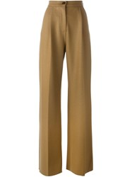 Erika Cavallini High Waisted Trousers Nude And Neutrals