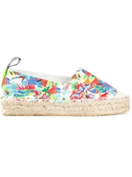 Love Moschino Tropical Print Espadrilles Multicolour