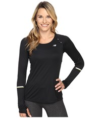 New Balance Nb Ice Long Sleeve Shirt Black Women's Long Sleeve Pullover