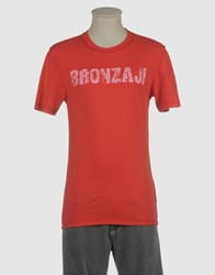 Bronzaji Topwear Short Sleeve T Shirts Men Lead