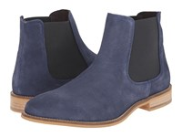 Dune Chevvy Navy Suede Men's Boots Blue