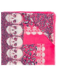 Zadig And Voltaire 'Kerry Garden' Scarf Pink And Purple