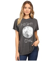 Show Me Your Mumu Oliver Tee Night Owl Women's T Shirt Black