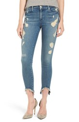 True Religion Women's Brand Jeans 'Halle' Destroyed Crop Skinny Jeans