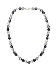 Honora 8Mm Multi Color Cultured Pearl And Sterling Silver Necklace 18In