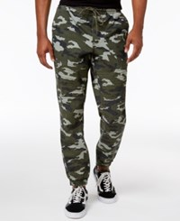 American Rag Men's Big And Tall Camo Moto Cotton Joggers Only At Macy's Olivemist