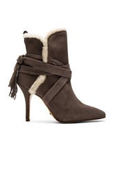 Schutz Finn Sheep Fur Bootie Gray