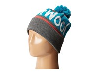 Smartwool Retro Logo Beanie Medium Grey Heather Beanies Gray