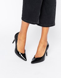 New Look Patent Court Heel Shoes Black