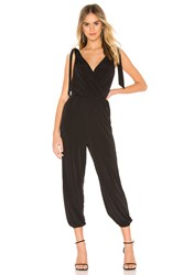 Bcbgeneration Surplice Jumpsuit Black