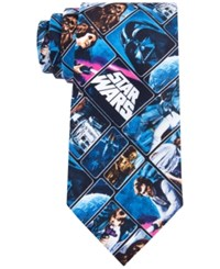 Star Wars Men's Vintage Poster Tie Blue