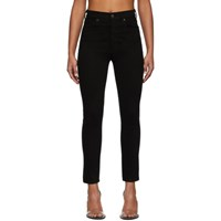 Citizens Of Humanity Black Olivia High Rise Slim Ankle Jeans