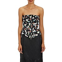 Thom Browne Women's Floral Satin Corset Top No Color