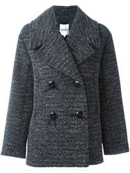 Kenzo Double Breasted Coat Grey