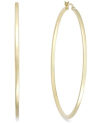 Macy's Square Tube Hoop Earrings In 14K Gold Vermeil 60Mm