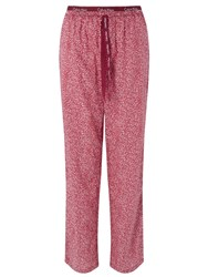 Calvin Klein Shard Geometric Print Pyjama Bottoms Burgundy