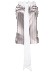 Jejia Tie Neck Sleeveless Shirt White