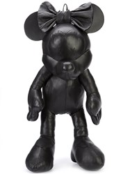 Christopher Raeburn Disney Minnie Mouse Backpack Unisex Cotton Leather One Size Black