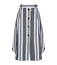 Sportmax Abituro Button Front Denim Skirt Female Grey