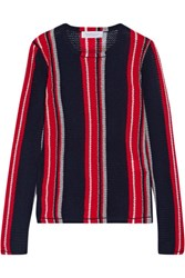 Gabriela Hearst Lucan Striped Cashmere Sweater Navy