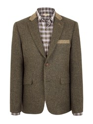 Gibson Moorgate Jacket With Contrast Cloth Green