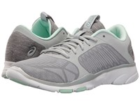 Asics Gel Fit Tempo 3 Mid Grey Silver Bay Women's Cross Training Shoes Gray