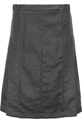 Marni Pleated Twill Skirt Dark Gray