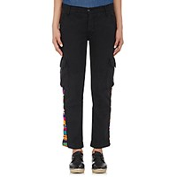 Nsf Women's Embroidered Cargo Pants Black Blue Black Blue