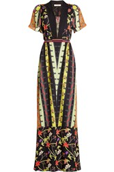 Etro Printed Silk Maxi Dress Multicolor