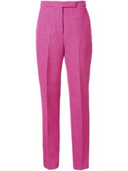 Yang Li Pleated Tapered Trousers Pink And Purple