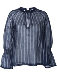 Torrazzo Donna Vertical Striped Jumper Women Rayon One Size Blue
