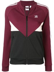 Adidas Logo Zipped Cardigan Red