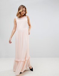 Selected Nora Sleeveless Maxi Dress Creme De Peche Pink
