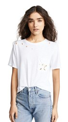 Chrldr Sega Stars Wide Pocket Tee White