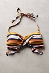 Anthropologie Twisted Bandeau Top Stripe