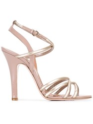 Red Valentino Gold Tone Detail Buckled Sandals Pink Purple