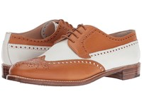 Gravati Calf Leather Wing Tip Natural White Women's Lace Up Wing Tip Shoes Beige