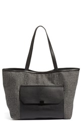 Phase 3 Lock Pocket Tote Black Black Grey Herringbone Tweed