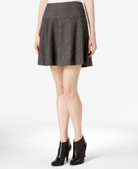 Kensie Tweed Skater Skirt Black Combo