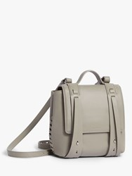 Allsaints Fin Mini Leather Backpack Grey
