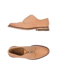 N.D.C. Made By Hand Lace Up Shoes Ocher