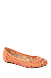 Godiva Perforated Flat Orange