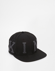 King Apparel Letterman Snapback Cap Black