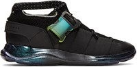 Christopher Kane Black Lace Up And Buckle Sneakers