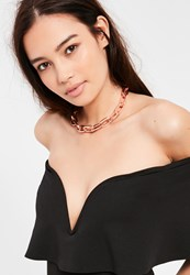 Missguided Rose Gold Chain Link Choker