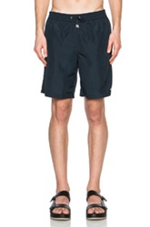 Jil Sander Swim Trunks In Blue