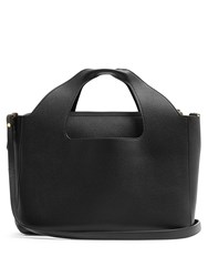 The Row Two For One Grained Leather Shoulder Bag Black
