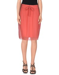 Paola Frani Skirts Knee Length Skirts Women Coral
