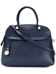 Furla Large Double Handle Tote Blue